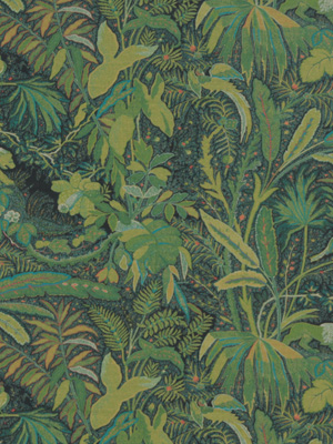 Beacon Hill Midnight Garden Collection Lioness Emerald Fabric