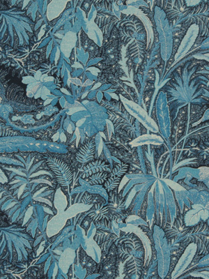 Beacon Hill Midnight Garden Collection Lioness Indigo Fabric