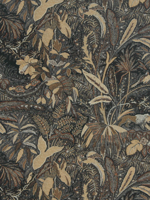 Beacon Hill Midnight Garden Collection Lioness Walnut Fabric