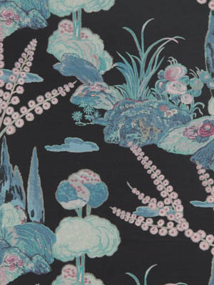 Beacon Hill Midnight Garden Collection Moon Blossom Midnight Fabric