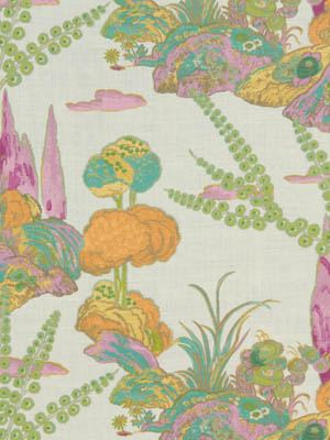 Beacon Hill Midnight Garden Collection Moon Blossom Orchid Fabric