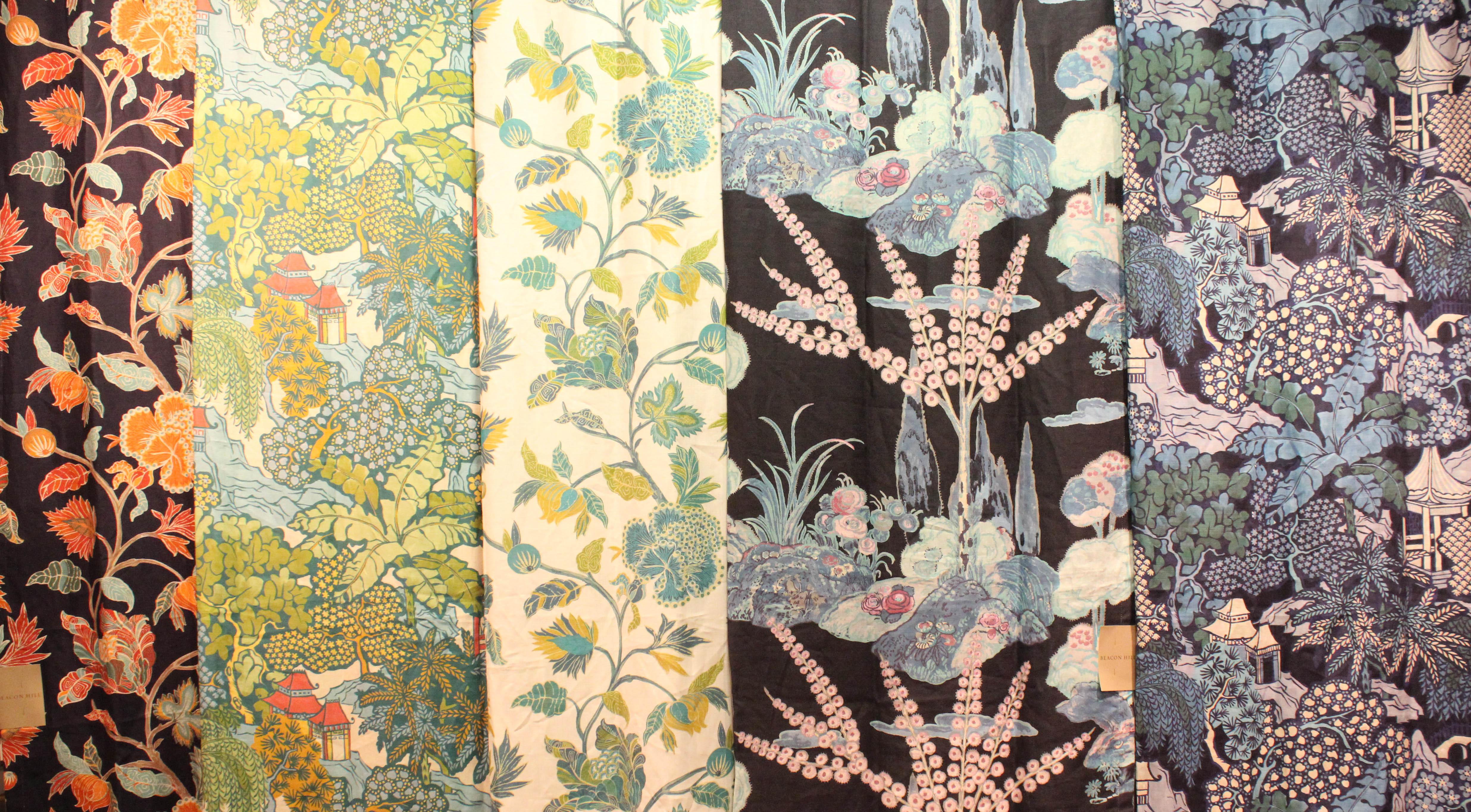 becon hill midnight garden collection linen fabrics decorators best design inspiration - Decorators Best
