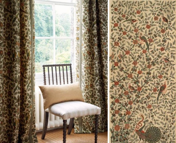 Decorators Best Historical Prints Design Inspiration GP J Baker Archive Fabric Bamboo Bird 1921 Crayford Collection