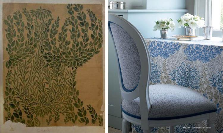 decorators best historical prints design inspiration gp j baker archive fabric leaf cascade 1903 crayford collection - Decorators Best