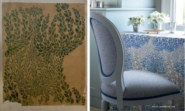 Decorators Best Historical Prints Design Inspiration GP J Baker Archive Fabric Leaf Cascade 1903 Crayford Collection