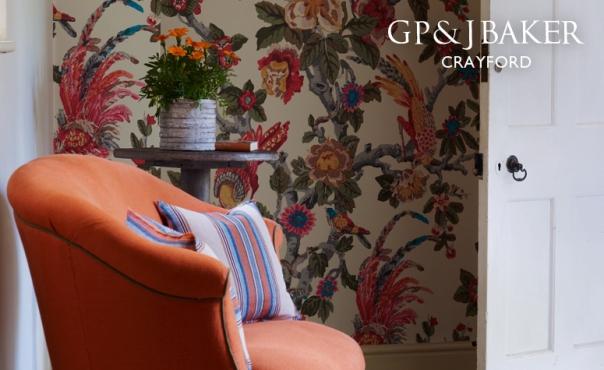 decorators best historical prints design inspiration gp j baker crayford collection pertelote wallpaper lee jofa - Decorators Best