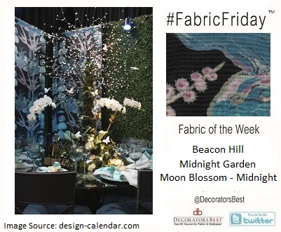 Beacon Hill, Midnight, Collection, Moon Blossom, Floral, Navy, Decorators Best, interior, Décor, Inpsiration, New