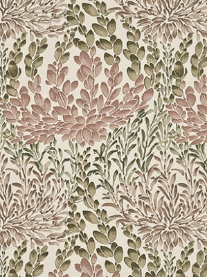 GPJ Baker Crayford Collection Fabric Leaf Cascade Cotton Rose BP10388 4