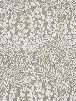 GPJ Baker Crayford Collection Fabric Leaf Cascade Linen Ivory BP10389 1