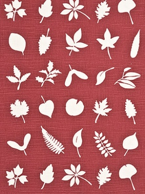 Lee Jofa Baker Lifestly Collection Tumbling Leaves Red Fabric PP50342_2