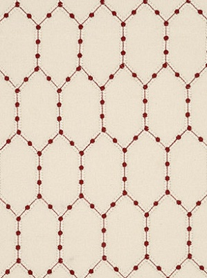 Lee Jofa Baker Lifestlye Collection Opera Trellis Red Fabric PF50336_450