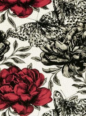 Clarke & Clarke Papillon - Rouge F0473/06