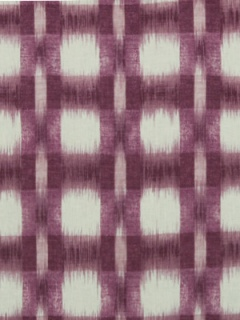 Robert Allen Fabric Plaid Ikat Eggplant