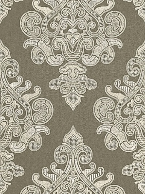 Schumacher Au Naturel II Prints And Weaves Collection Angkor Embroidery Peat Fabric 67580
