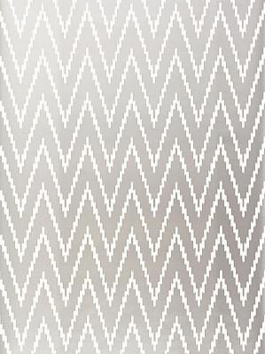 Schumacher Wallpaper Byzantium Collection Kasari Ikat Silver 5005993