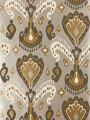 Schumacher Wallpaper Tashkent Ikat Silver 5000990