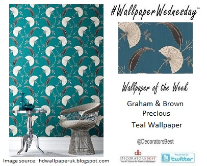 Decorators Best, Teal, Wallpaper, Graham & Brown, nature inspired, interior décor  inspiration
