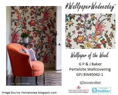 GP&J Baker Wallpaper Pertelote GPJ BW45042-1 Floral Birds