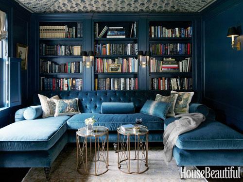blue velvet tufted sofa home of jeannette whitson interior decor