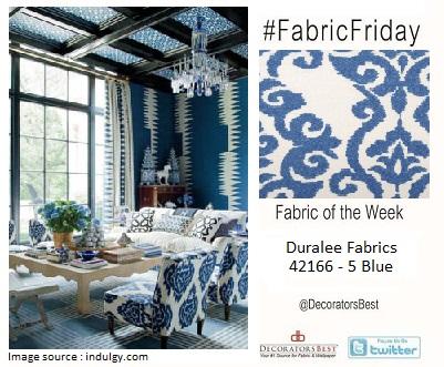 blue fabric fabric friday decoratorsbest duralee interior decor design
