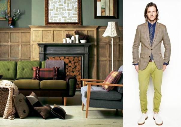 Men's Fashion Translated into interior decor