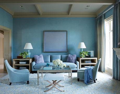 glamorous pastel blue interior decor
