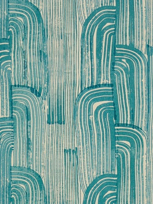 Groundworks Wallpaper Crescent Paper Lake/Cream GWP-3304-316