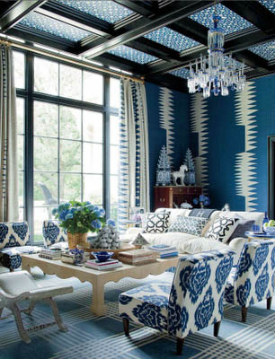blue fabric interior decor design fabric friday fathers day