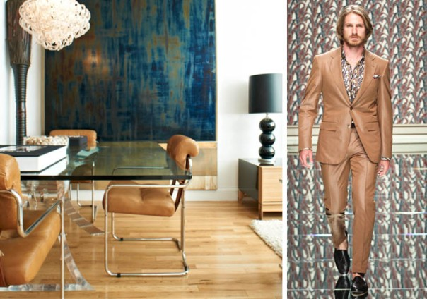 Tan Leather Decor Retro Ermenegildo Zegna 2013 Collection Men's Fashion