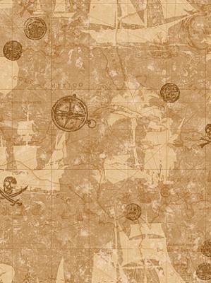 York Wallpaper Pirate Map Sidewall ZB3109