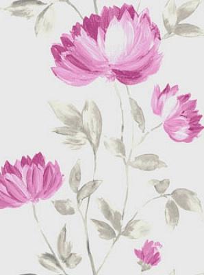 Casadeco Guirlande Wallpaper Rose Fushia