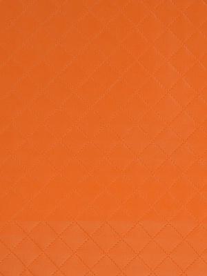 Fabricut Faux Leather Fabric - Melbourne - Orange Crush 3093006