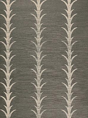 Schumacher Wallpaper - Acanthus Stripe - Shadow 5006050