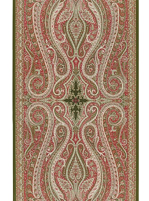 Schumacher Wallpaper Pasha Paisley - Pomegranate 5006601