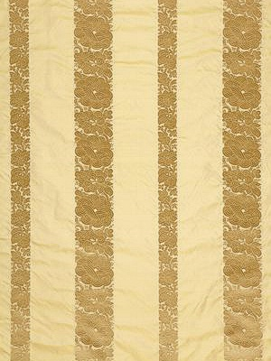 Schumacher Fabric - Mandarin Silk Stripe - Gold Dust  64434