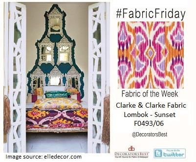 ikat fabrics clarke & clarke design collection summer living interior decor inspiration fabric friday