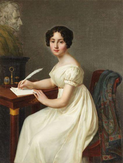 Alix de Montmorency, Duchesse de Talleyrand with a paisley shawl by Henri François Riesener (1767-1828)