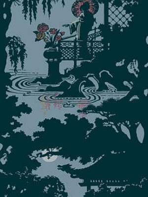 Cole & Son Wallpaper - Geisha - Teal CS 89/6025