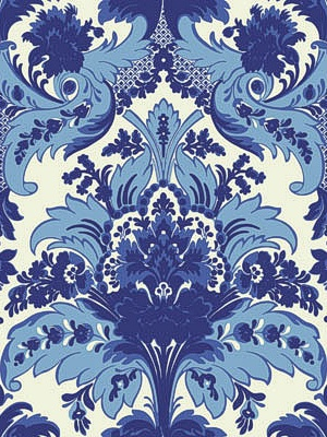 Cole & Son Wallpaper - Aldwych - Blue & White CS 94/5025