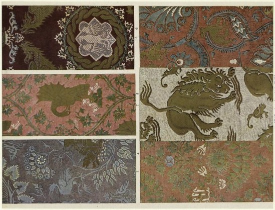 Historical Silk Damasks from Italy in 1300s