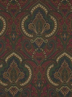 Ralph Lauren Wallpaper - Castlehead Paisley - Calvary Red LWP60715W