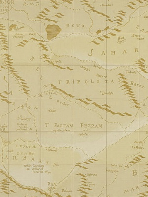 Ralph Lauren Wallpaper Desert Map Sand LWP60735W