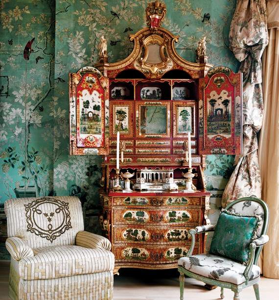 Asian Inspired Room Decor Chinoiserie Wallpaper