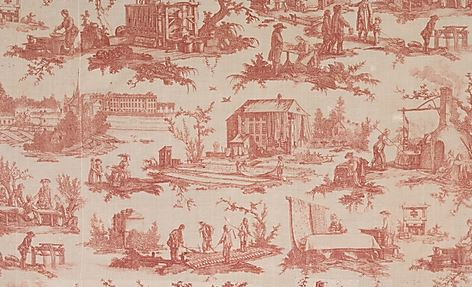 Toile de Jouy designed by Jean Baptiste Huet I, 1783