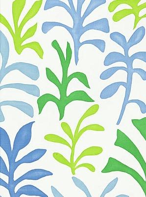 Schumacher Fabric - Ode to Matisse - Leaf Ocean 174951