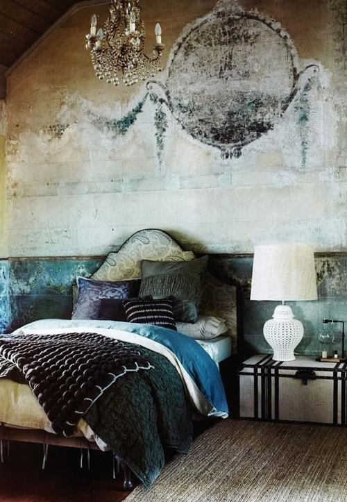 Distressed Walls Bedroom