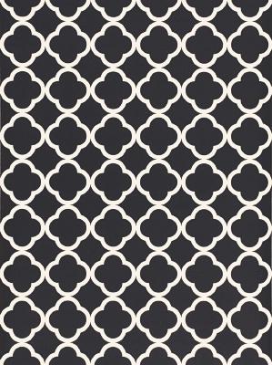 Schumacher Wallpaper - Morocco - Black 5005876