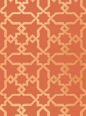 Schumacher Wallpaper - Cordoba - Cinnabar 5005923
