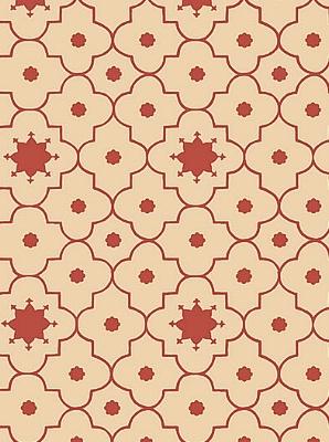 Schumacher Wallpaper - Taj Trellis - Pomegranate 5006622