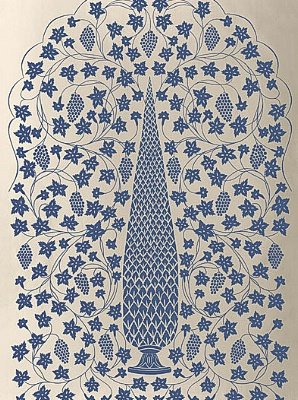 Schumacher Wallpaper - Mughal Panel - Imperial 5006692